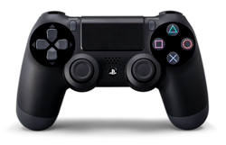 De voorkant van de PlayStation 4 controller