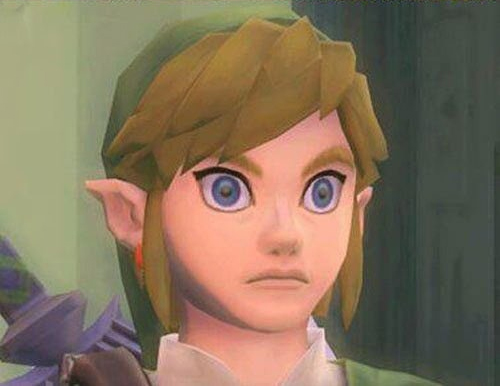 legend of zelda skyward sword link heavy breathing