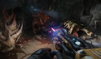 Een afbeelding uit de game Evolve